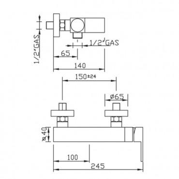 Doccia esterna rubinetteria New Space 3325 Gaboli Flli