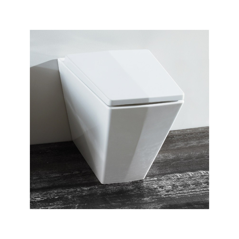 back to wall toilet with floor drain Crystal Olympia Ceramica