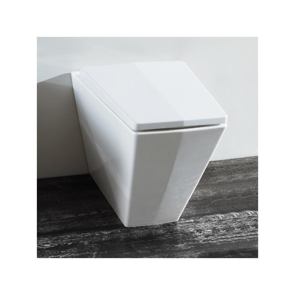 Inodoro adosado a pared con desagüe Crystal Olympia Ceramica