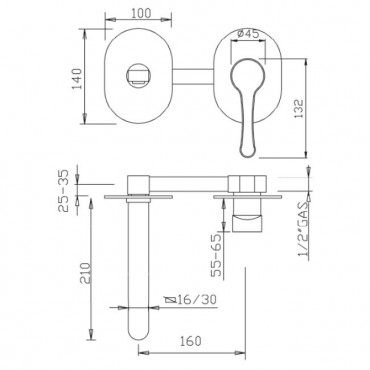 Miscelatore per lavabo Jody 4371