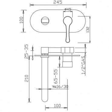 Miscelatore per lavabo Jody 4381