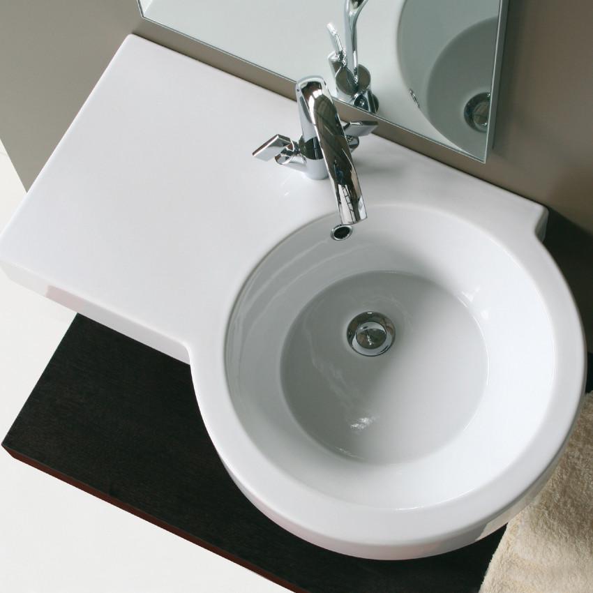 Vasque à poser en céramique Olympia Tutto Evo à droite