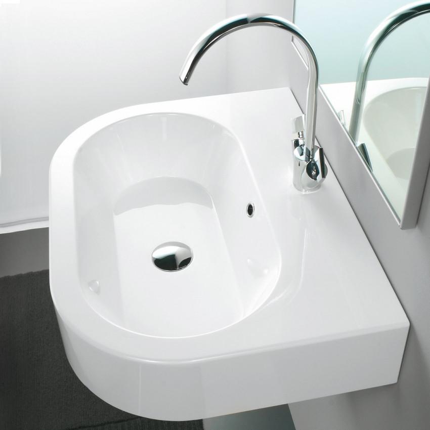 Lavabo bagno sospeso - appoggio 60 cm TuttoEvo Olympia