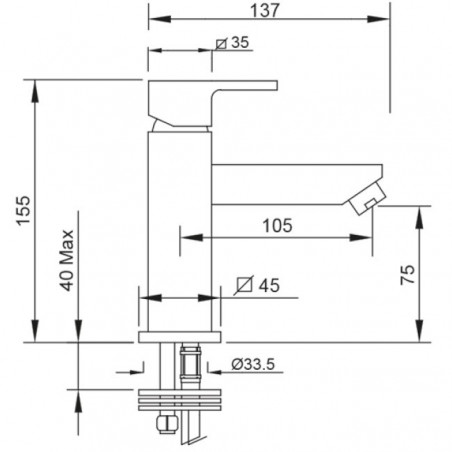 mitigeurs de lavabo 2701 Gaboli Flli robinets