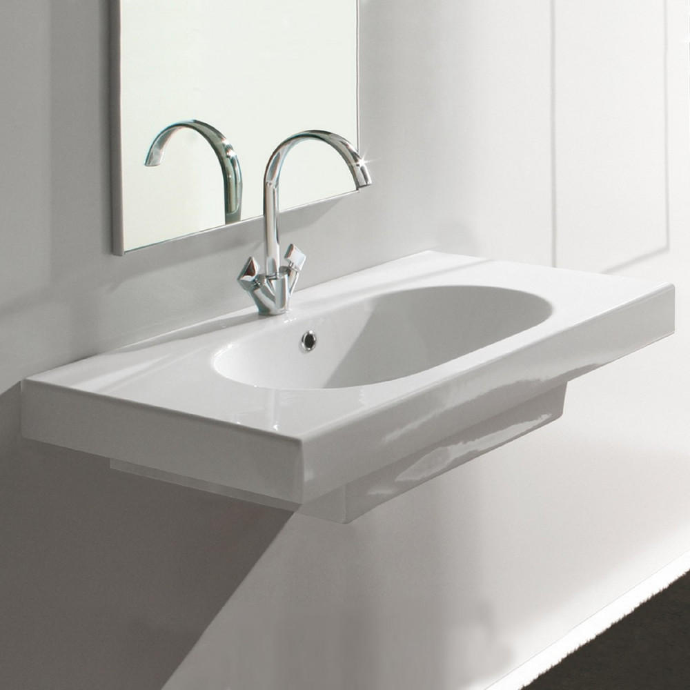 Olympia suspended bathroom sinks
