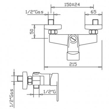 mezcladores de ducha externos Gaboli Flli Rubinetteria