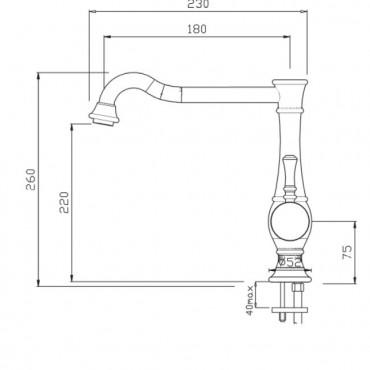 Miscelatore da lavabo con scarico Betty 5400