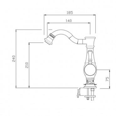 Mezclador de bidé estilo Betty 5405 Gaboli F.lli