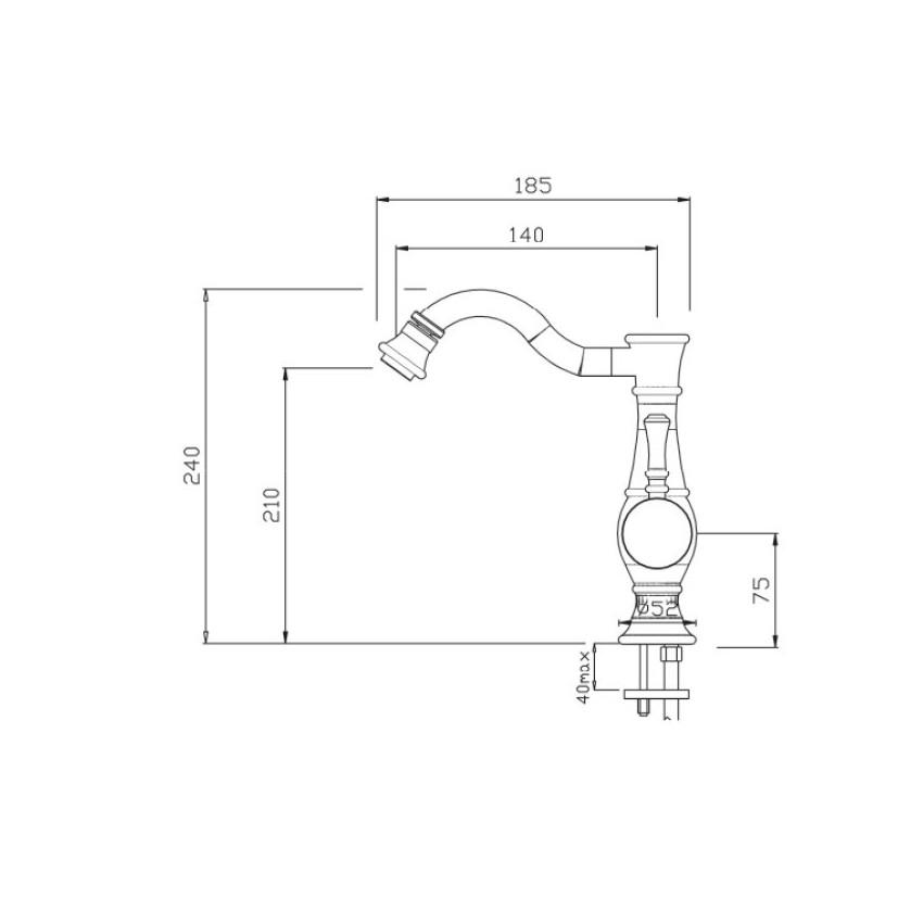 rubinetti per bidet Betty 5405 Gaboli F.lli rubinetteria