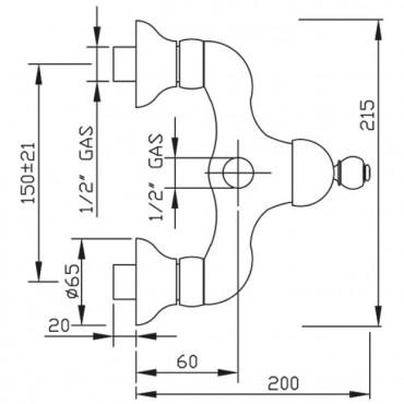 mezcladores de ducha retro grifos Gaboli Flli