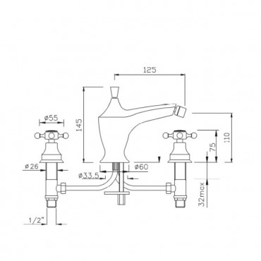 robinet bronze or chrome cuivre Gaboli Flli robinets