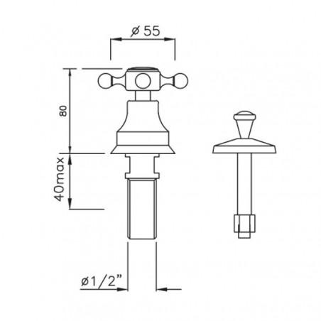rubinetto vintage per bidet Gaboli Flli rubinetteria
