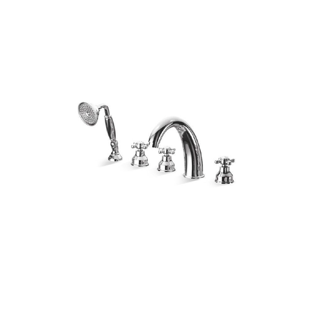 Robinet de baignoire vintage 5 trous Papiro Gaboli Flli Rubinetteria
