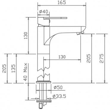 rubinetteria per lavabo da appoggio Gaboli Flli rubinetteria