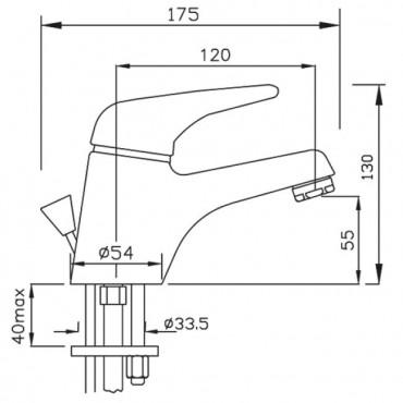 Miscelatore da lavabo con scarico Beta 1097