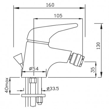 Miscelatore bidet Beta 1098 Flli Gaboli Rubinetteria