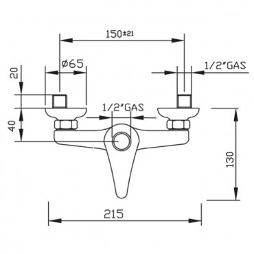 Miscelatore esterno per doccia economica Beta 1091 Gaboli Flli