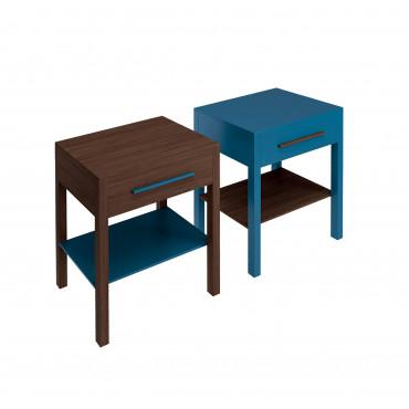 meuble de salle de bain bleu Tratto 60 Olympia Ceramica