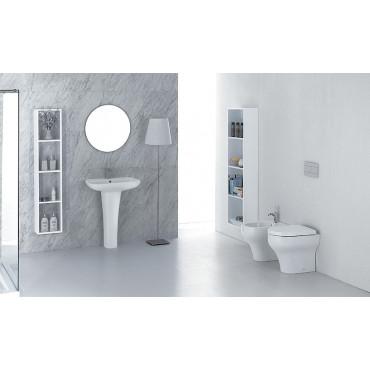 WC dos au mur Clear Olympia ceramica