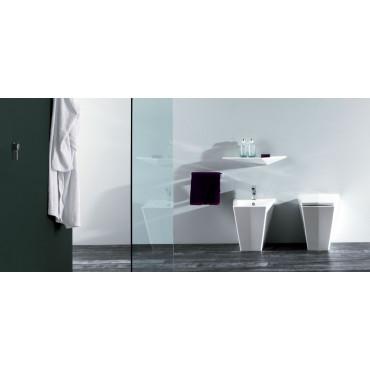 WC dos au mur avec siphon de sol Crystal Olympia Ceramica