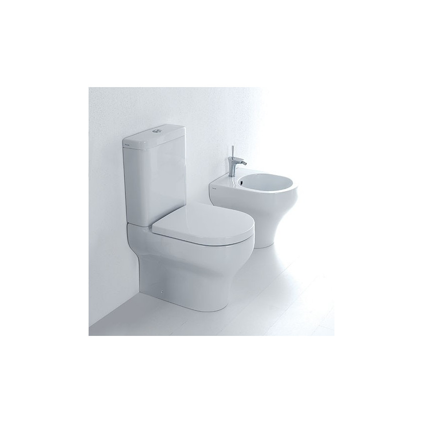 wc con cassetta esterna bidet filomuro Clear Olympia Ceramica