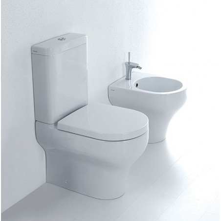 wc with external cistern flush to wall bidet Clear Olympia Ceramica