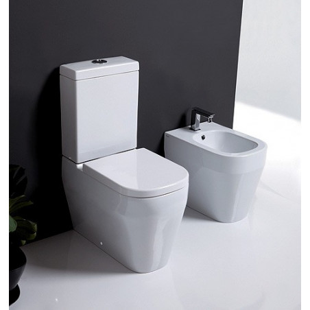 back to wall sanitary ware external cistern Tutto Evo Olympia Ceramica