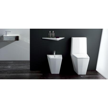 toilettes monobloc et bidet à fleur de sol Crystal Olympia Ceramica