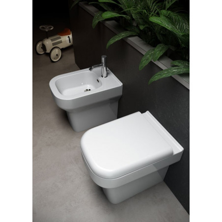 back to wall wc and bidet Synthesis Olympia ceramica