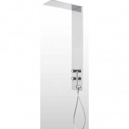 shower column with shower head and hand shower HQ375 Gaboli Flli Rubinetteria