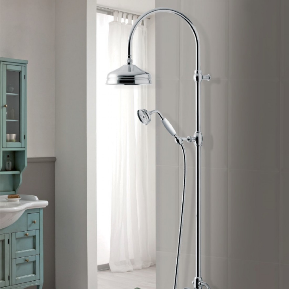 Shower column bronze gold chrome copper Gaboli Flli Rubinetteria