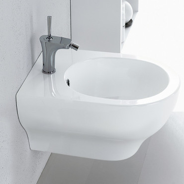 Modern suspended sanitary ware bidet Clear Olympia Ceramica