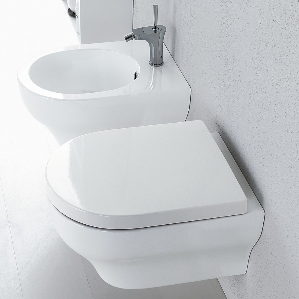 rimless suspended sanitary ware Clear Olympia Ceramica