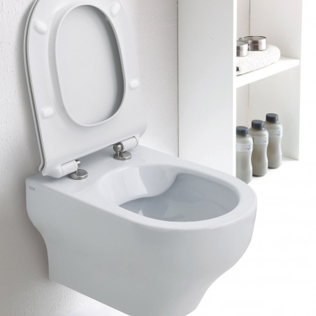 Suspended toilets Clear rimless prices Olympia Ceramica