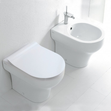 back to wall sanitary ware Clear Olympia ceramica