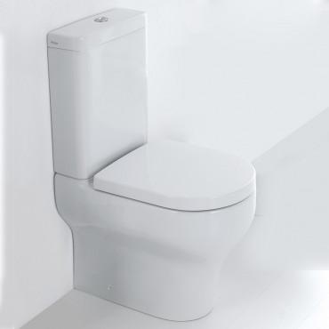 Inodoro adosado con cisterna Clear Olympia Ceramica