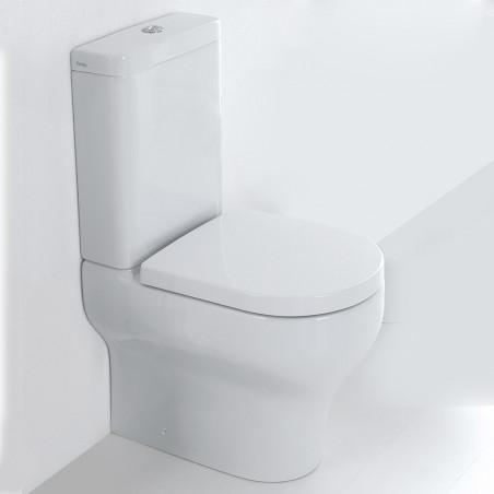 Toilette au mur avec réservoir extérieur