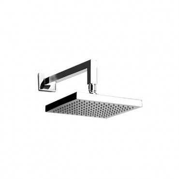 Square shower head with arm...