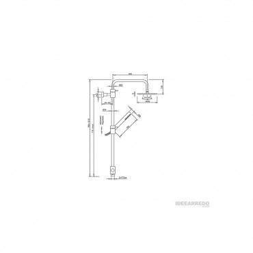 Colonna per doccia esterna tonda AL360 Gaboli Flli