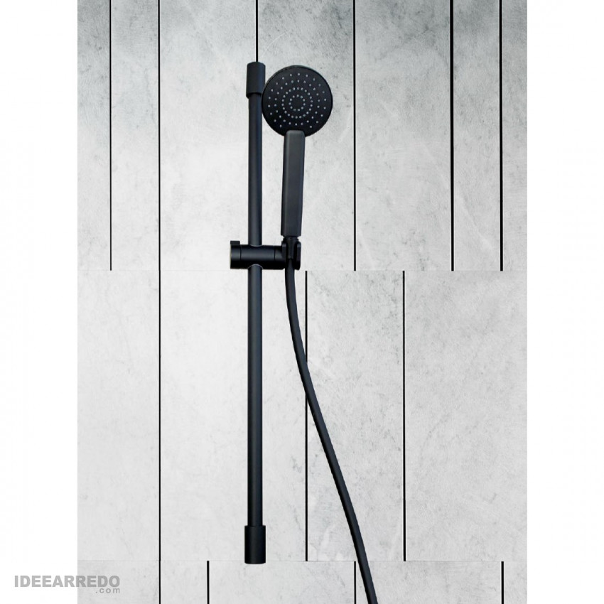 Saliscendi nero opaco tondo SL500