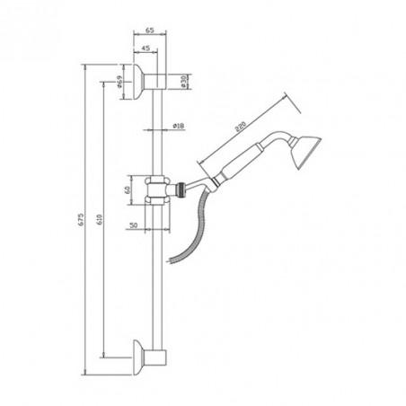 offre des robinets vintage pour douches Gaboli Flli Rubinetteria