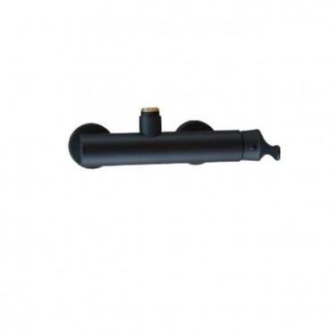 Mezclador de columna de ducha negro Gaboli Flli rubinetteria