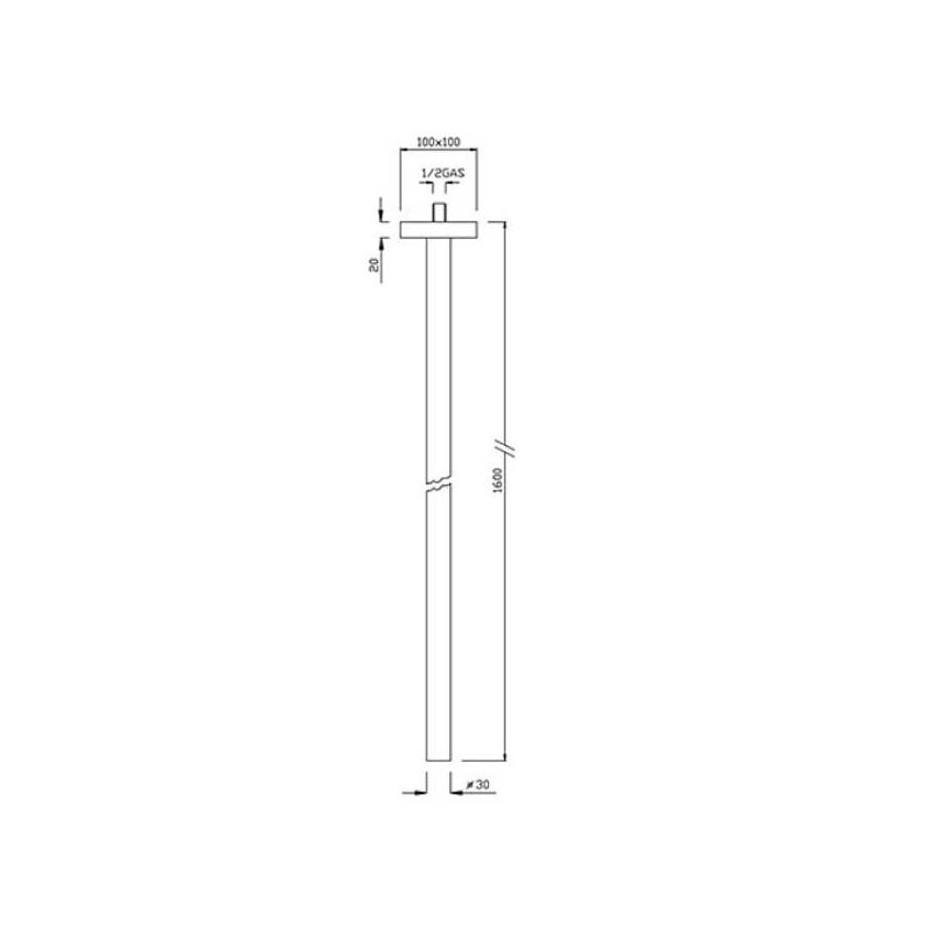 bocca erogazione da soffitto NS504 Gaboli Flli rubinetteria