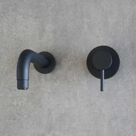 Black wall mounted basin mixer Gaboli Flli Rubinetteria