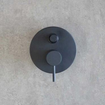 Mezclador de ducha empotrado negro Gaboli Flli Rubinetteria