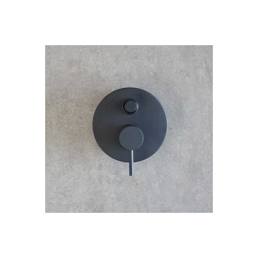 Black built-in shower mixer Gaboli Flli Rubinetteria