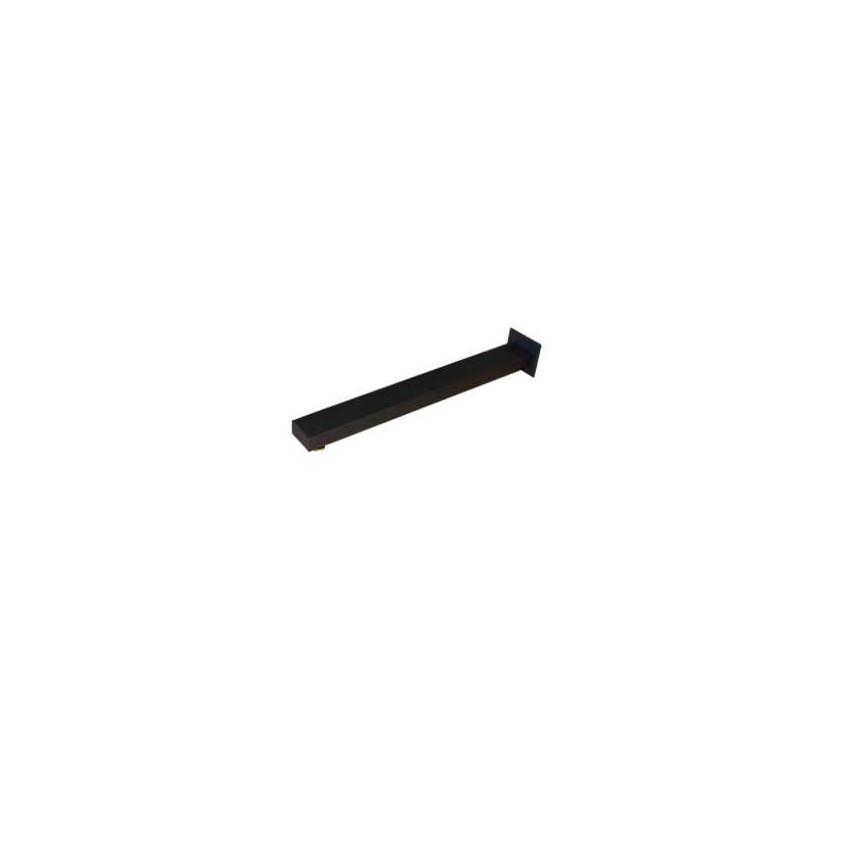 Braccio doccia rettangolare nero NS505 Gaboli F.lli