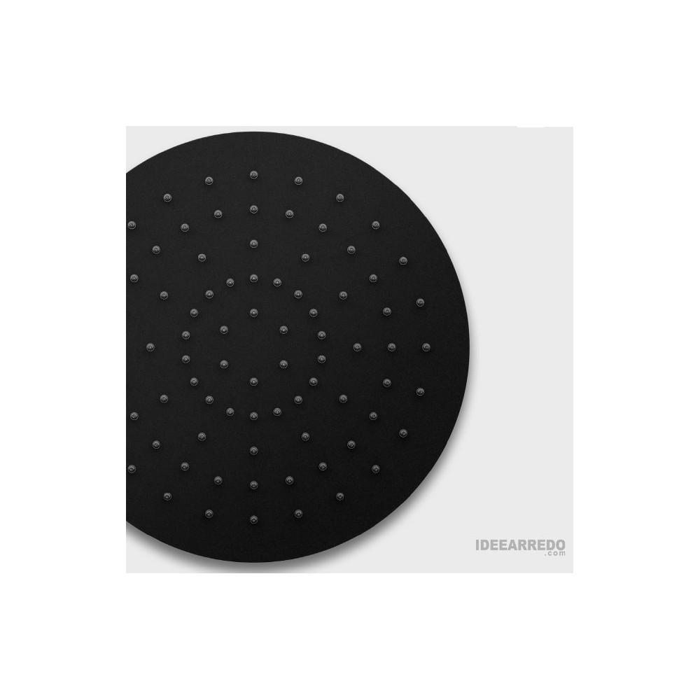 Black round anti-lime shower head Gaboli Flli taps