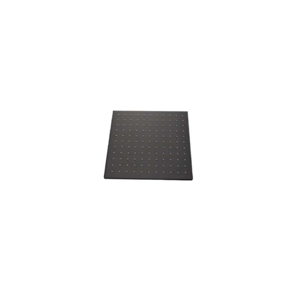 Soffione doccia anticalcare quadrato nero Gaboli Flli rubinetteria