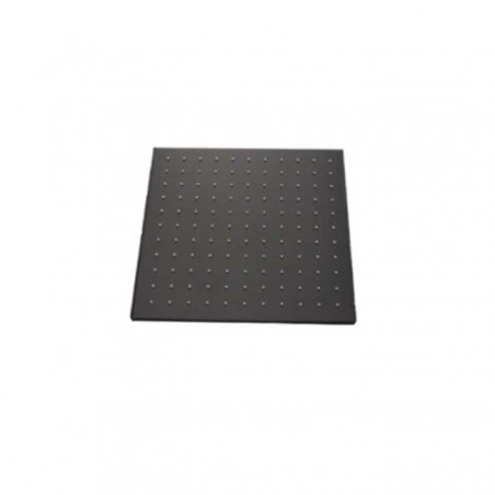 Black square antiscale shower head Gaboli Flli taps
